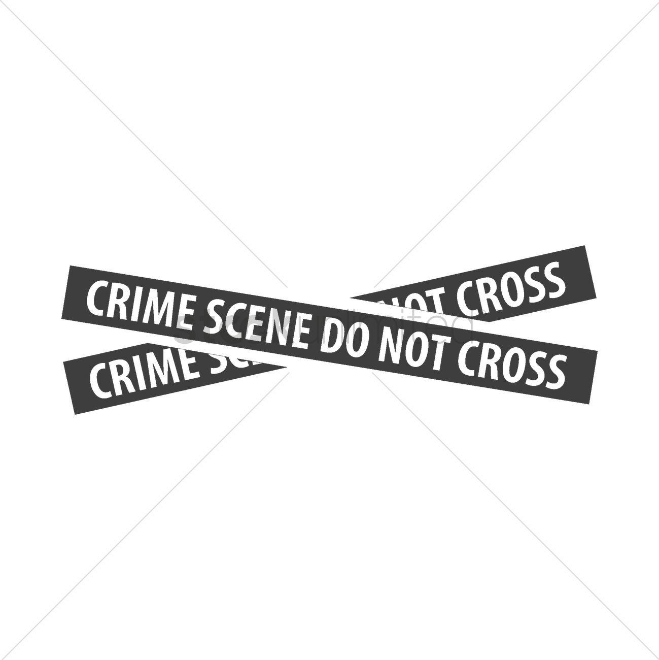 Crime Scene Tape Vector Image