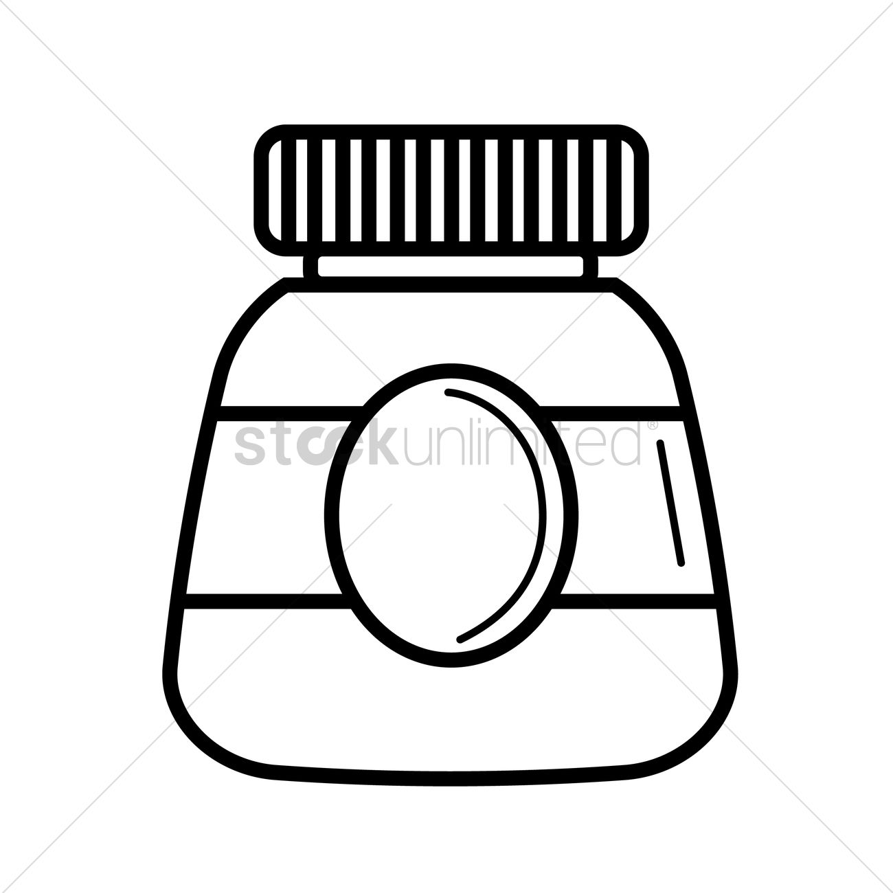 Free Gum Bottle Vector Image