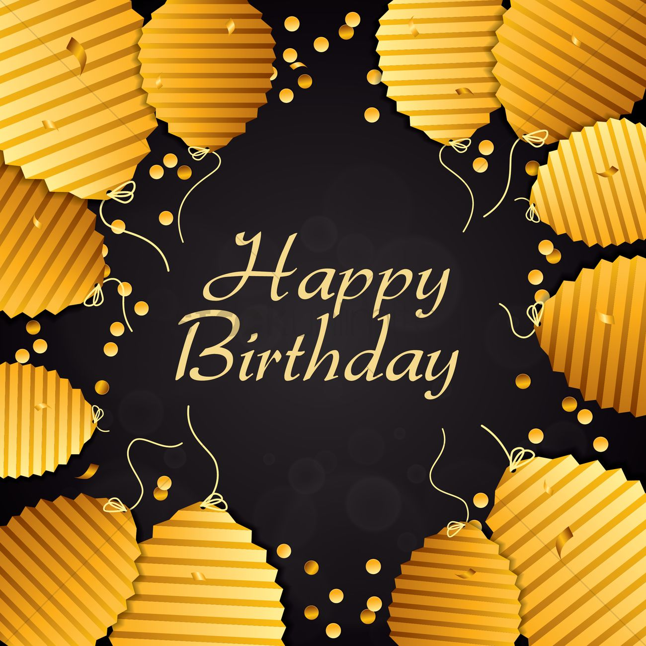 Happy Birthday With Classy Concept Vector Image 1934694 Stockunlimited