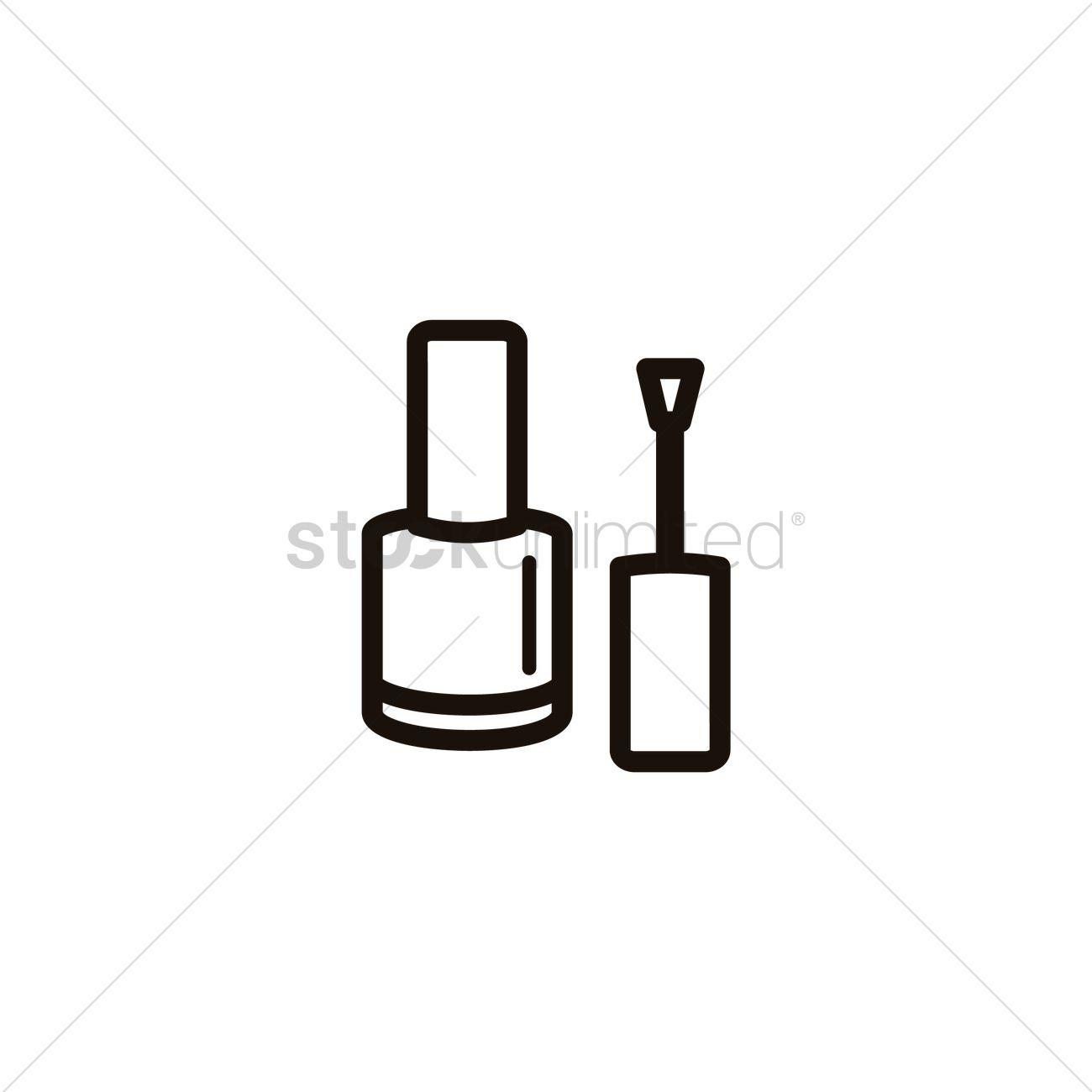 Nail Polish With Brush Vector Image