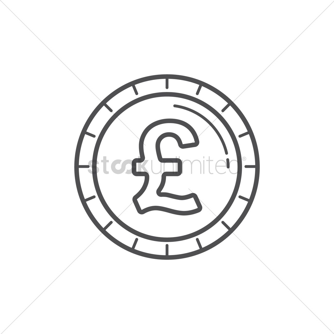Pound Coin Vector Image