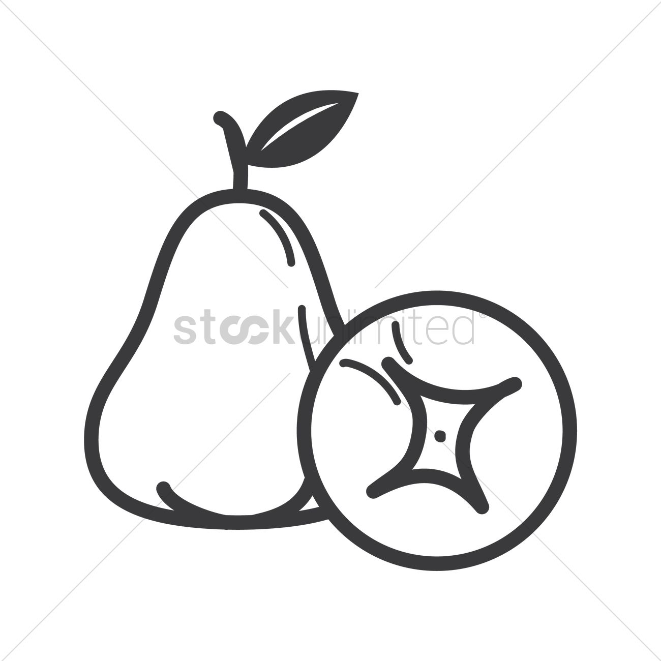Rose Apple Vector Image
