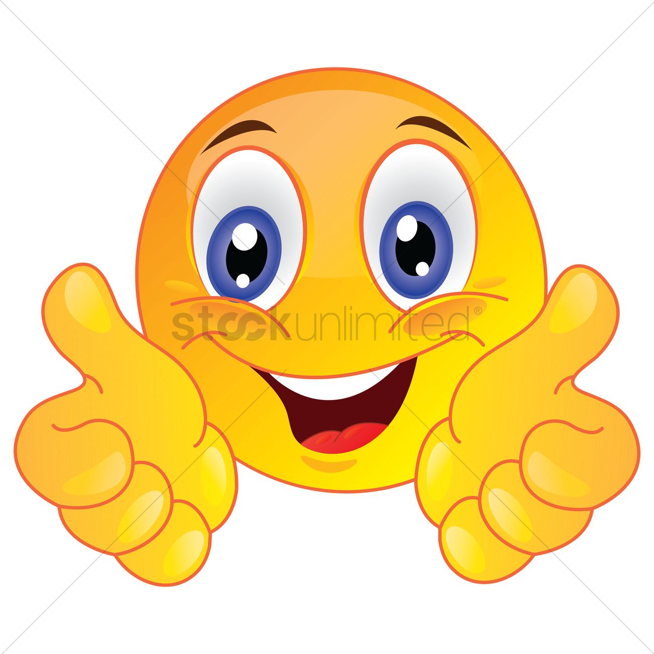 Smiley Face Showing Thumbs Up Vector Image