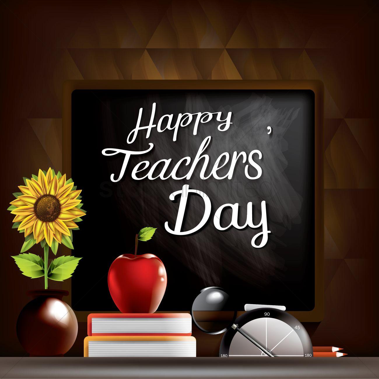 Teachers Day Concept Vector Image