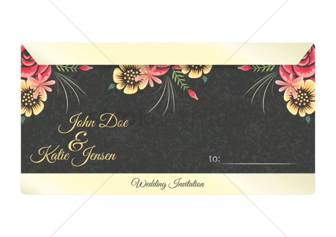 Wedding Invitation Letter Design Vector