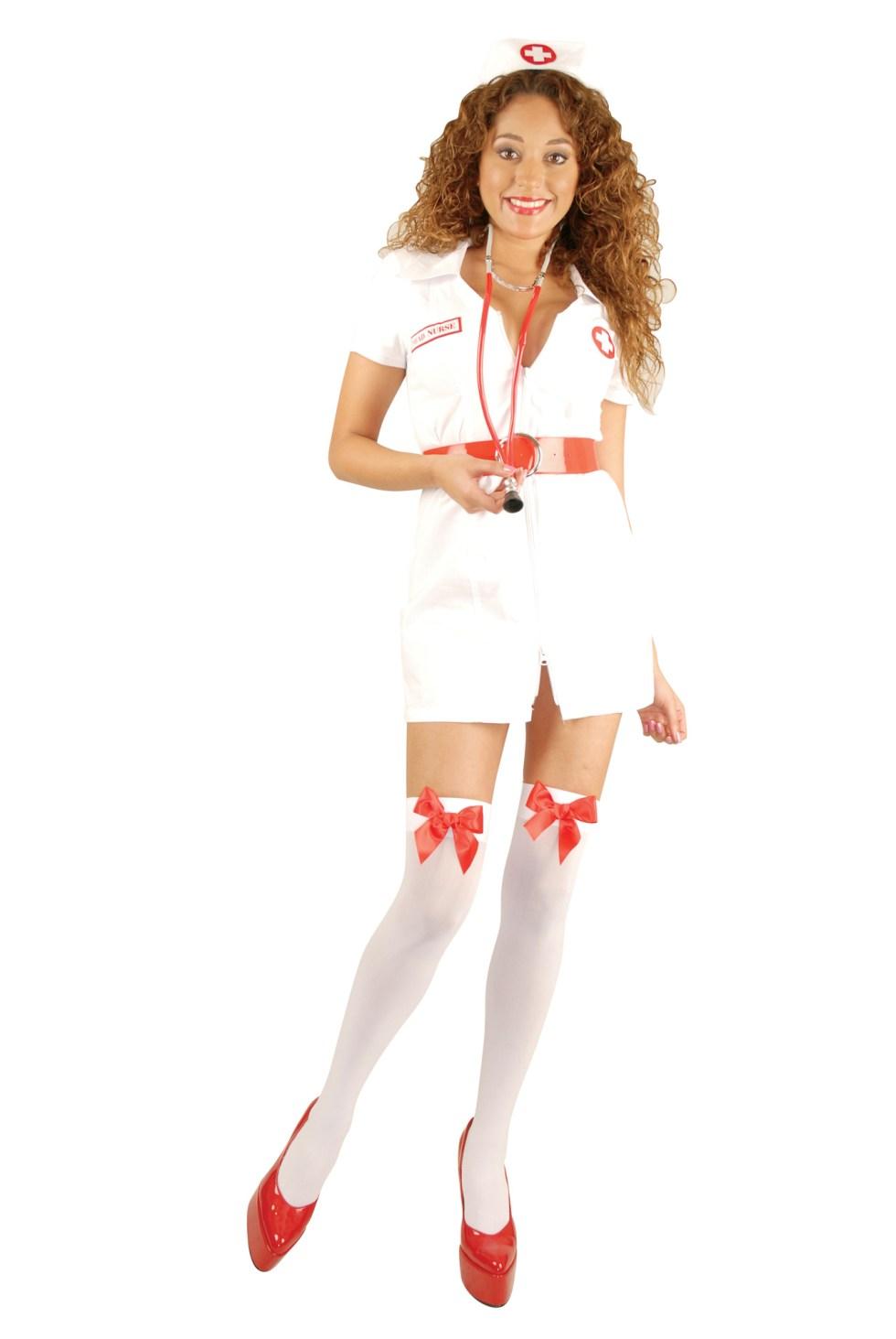 Double Zip Nurse Adult Plus Costume-3X