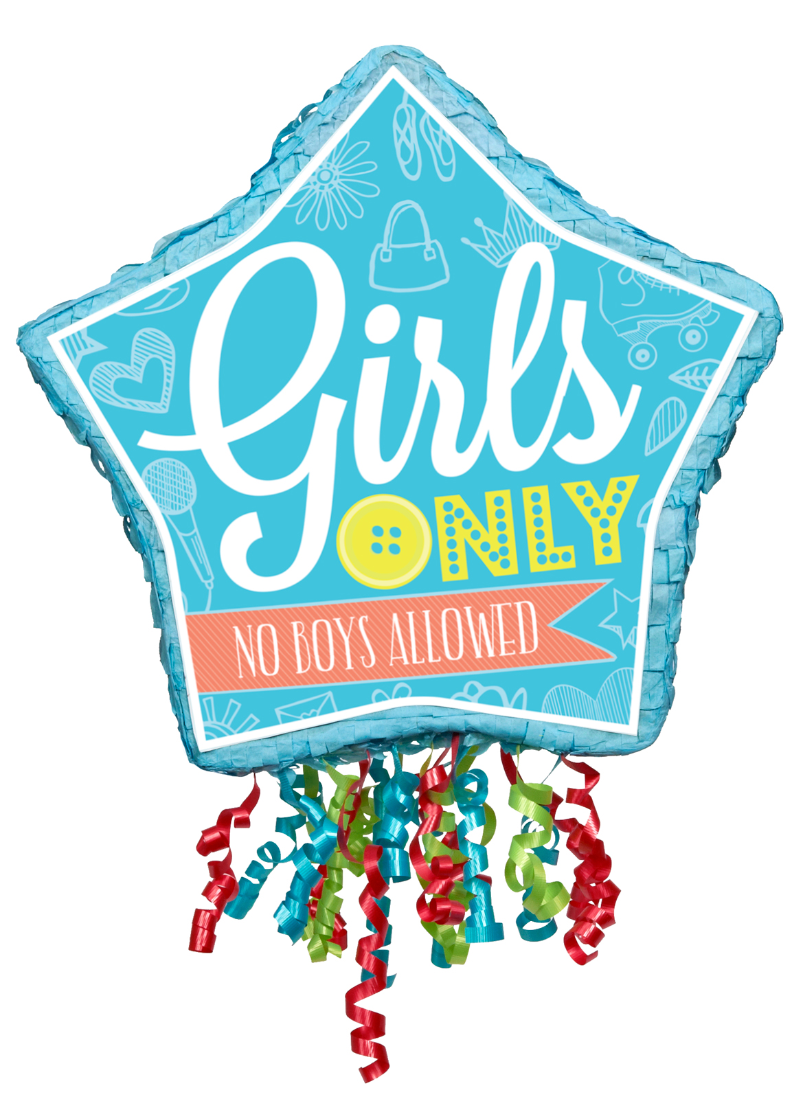 Girls Only Party Pull-String Pinata