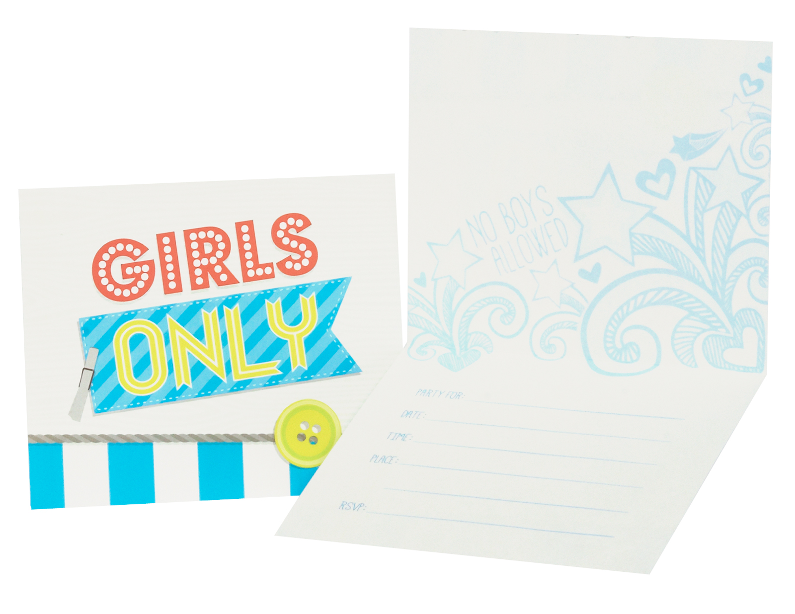 Girls Only Party Invitations
