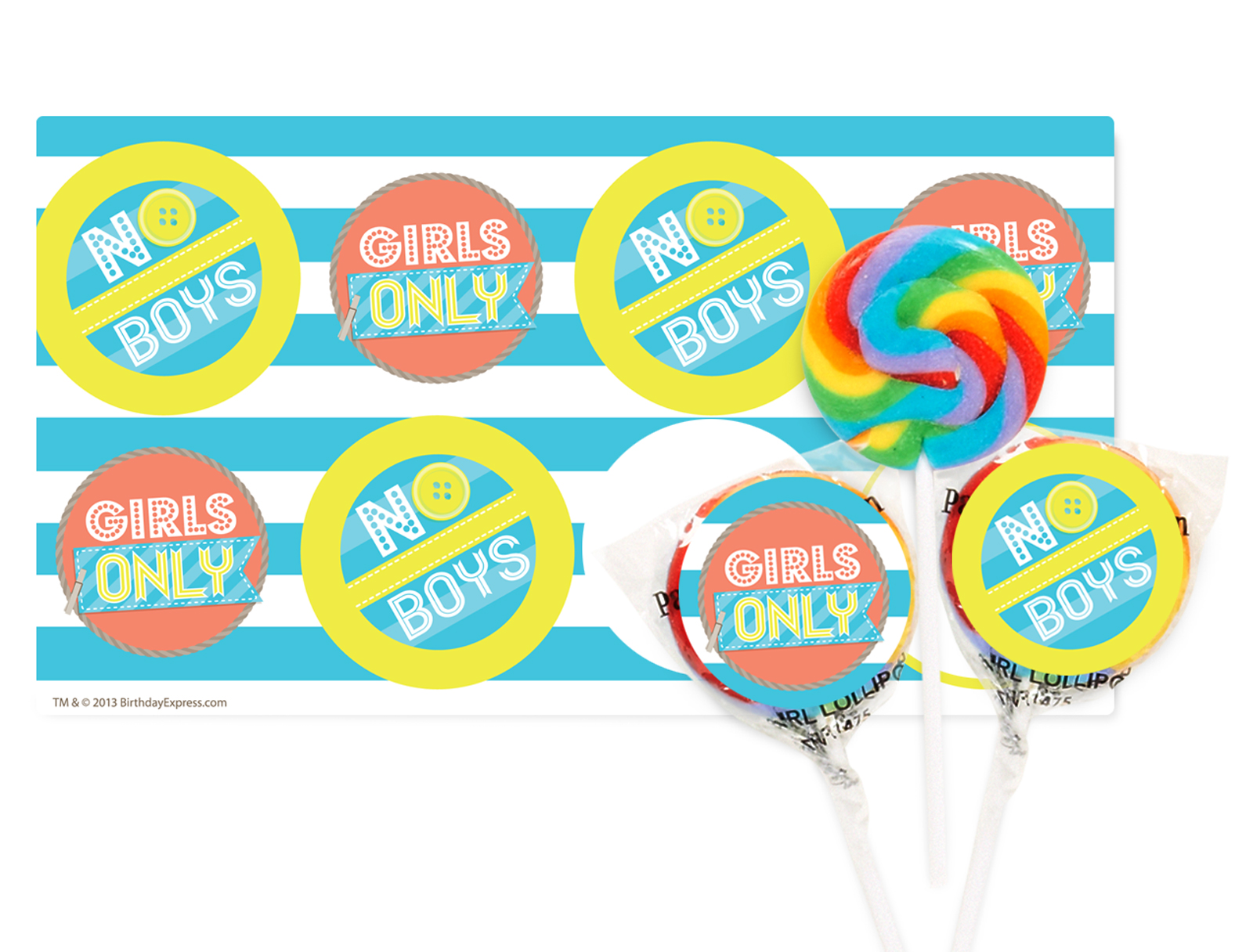 Girls Only Party Small Lollipop Kit
