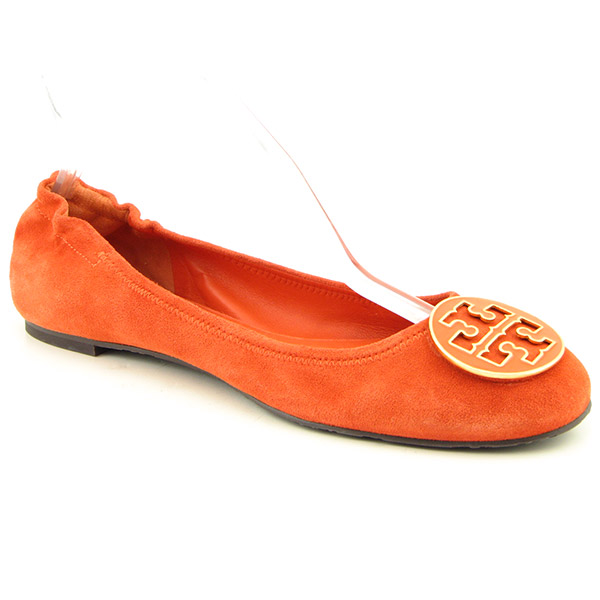 TORY BURCH Reva Ballet Flats Flats Shoes Orange Womens
