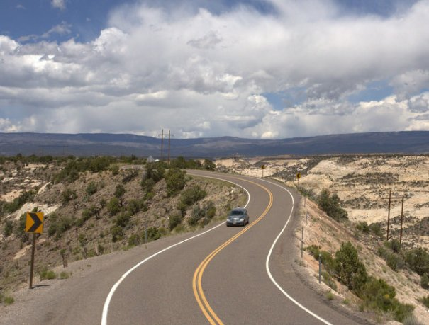 The Hogback is a very narrow stretch of road with deep canyons on both sides just a few feet from the blacktop.