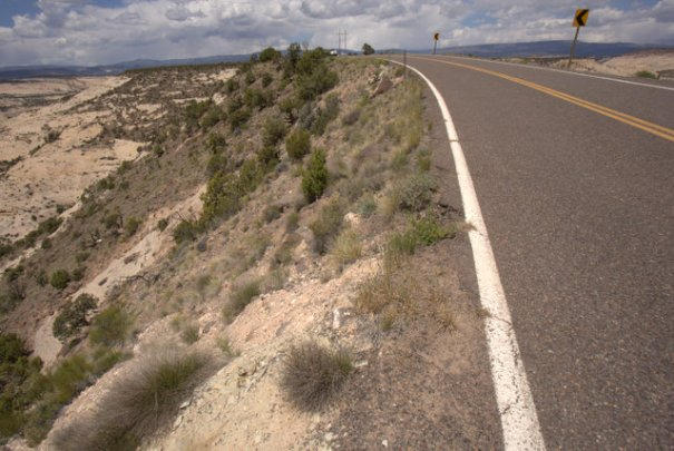 The left side is just as steep and just as close to the road. It's not for the faint of heart!