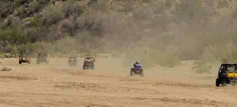The dust and noise of ATVs are just part of boondocking. They are one of the reasons I look for remote and private camp sites.