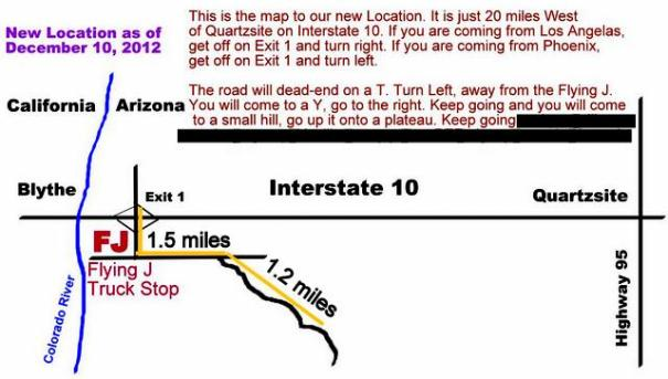 This is a map to our current camp. You are welcome to join us!