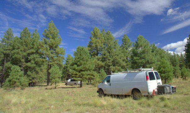 Our current camp back in Flagstaff on A-1 Mountain Road.