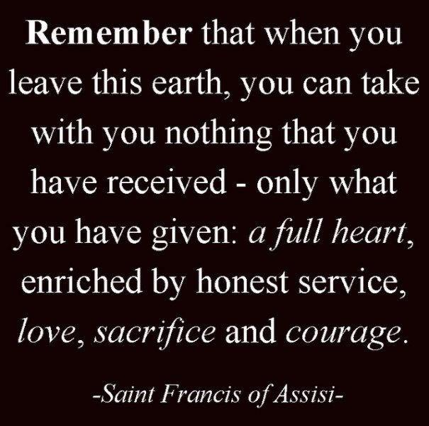Giving-francis-quote