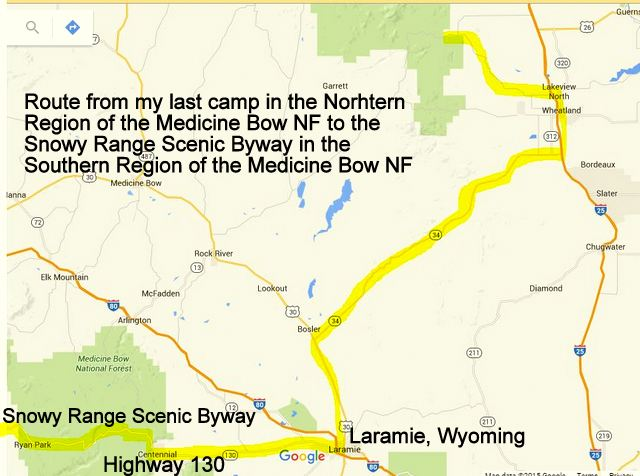 Snowy Range Wyoming Map.Cheap Rv Living Com Camping In The Snowy River Range Scenic Byway