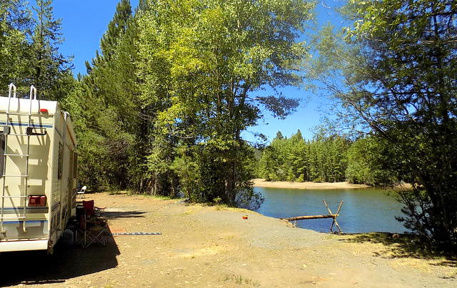 Our camp on a beautiful lake.