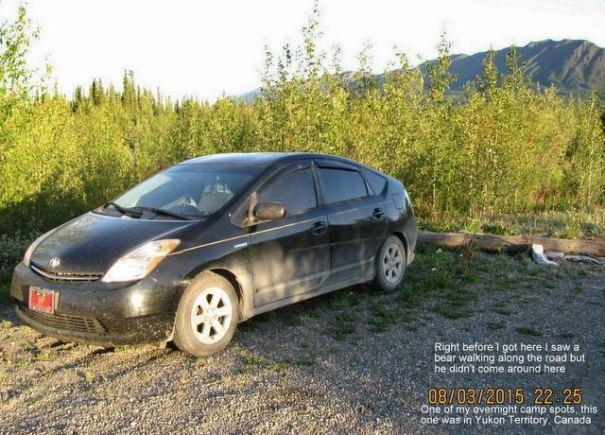 Dick camping in the Yukon Territories.