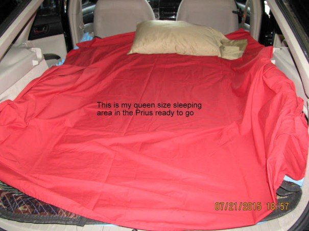 Prius-bed-made