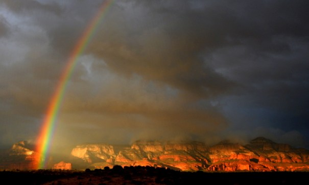 Sedona said goodbye with a BIG storm!! But out of the biggest storm can come the greatest beauty. Thank you Sedona--I'll be back!