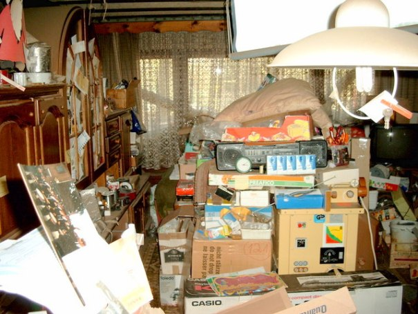 Hoarding is perfect example of a house being too big, so the owner fills it full of stuff so it feels small again.