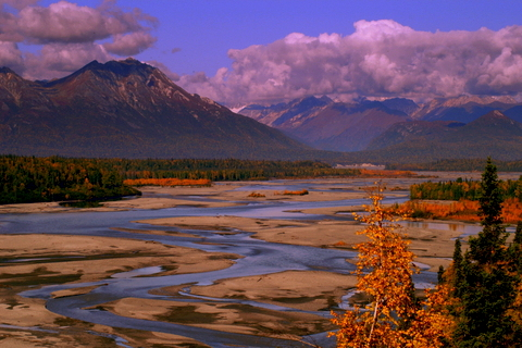 The Chulitna River valley right beside Mt Mckinley along the Parks Highway.