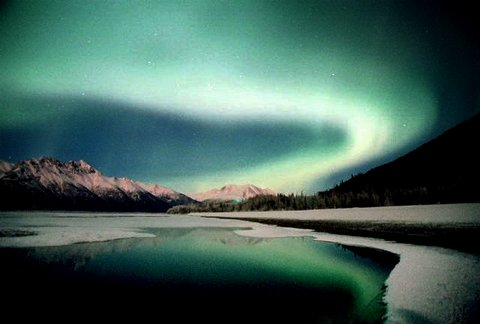 Another shot of the Aurora reflecting on the Matanuska River