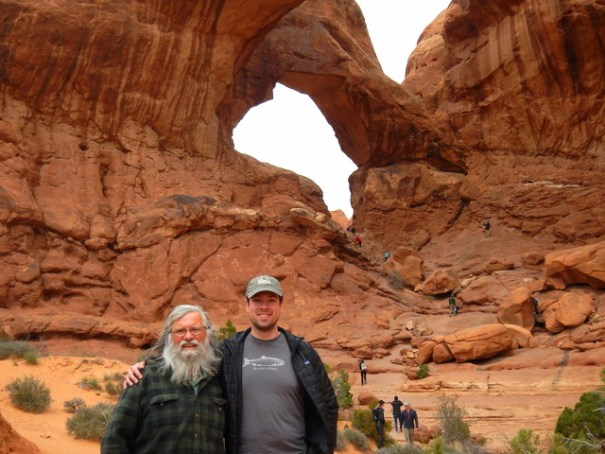 My son and I in Arches, more about that to come.
