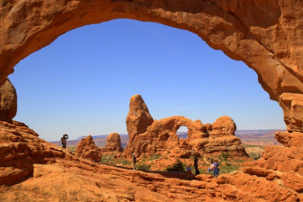 This is a the shot I came to Arches to get. In the background is Turret Arch and in the foreground is the opening in the North Window. Little did I know it would teach me a life lesson in the process of getting the shot.