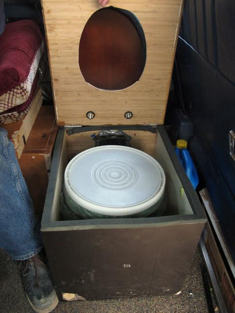 Composting Toilet In A Van