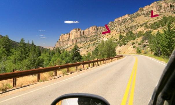 Heading down TenSleep Canyon.