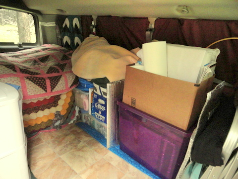 This is Judy's van before we remodeled it. We both think it was a big improvement!