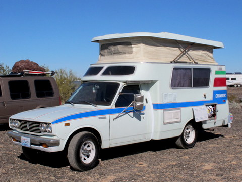 The Toyota Chinook is a great little rig I recommend. But they are difficult to find.