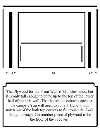 The front wall in an exploded diagram.