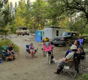 I spent 2 months in this wonderful campsite with some great friends in the Sierra NF.