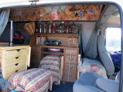 Cheri's van from the side door.