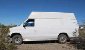 Cheri found this nice used Ford high-top, extended cargo van on Craigslist and turned it into something very special!