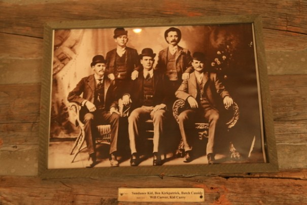 One of the many authentic photos and items from Butch Cassidy's cabin.