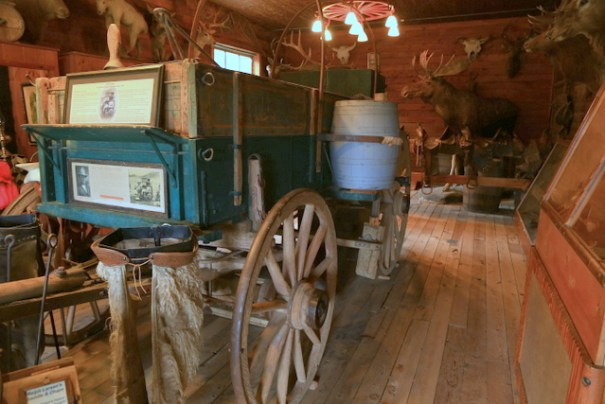 """This is an authentic """"chuck wagon"""" used on trail drives in the 1890s."""