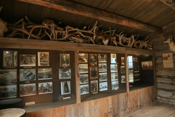 This cabin was used as a museum and on this wall are the obituaries of all the people buried in the graveyard. It also includes the newspaper artices from their tie and when their bodies were exhumed and moved to Old Trail Town. There are several letters written by the people in the graves.