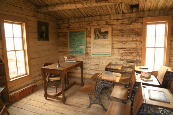 An authentic one-room school house.