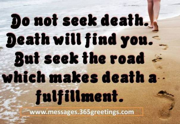 Embrace death as your greatest ally in the good life, not as an enemy.