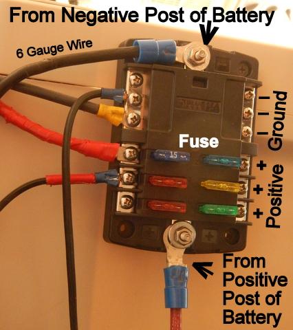 cheap rv living com installing a 12 volt fuse block rh cheaprvliving com wiring fuse box 1974 vw beetle wiring fuse box on 2014 mack mp7 truck