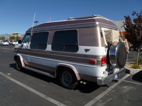 Other Than The Air Conditioner In Back Window This Conversion Van Is Fairly Unnoticeable