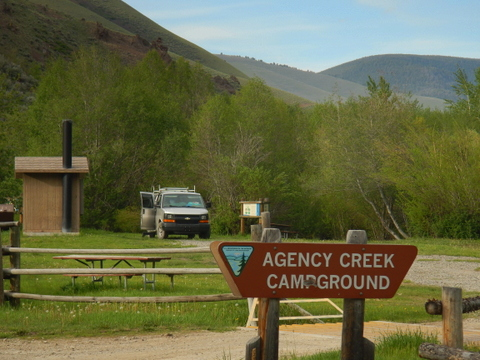 Nice, little, free, campground in Idaho n a creek.