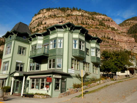 The little mountain town of Ouray , CO is just 9 miles south of Ridgway. A wonderful little place!