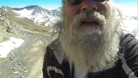 Here I am checking on the GoPro. Yuck!! Somebody needs to trim his nose hair!