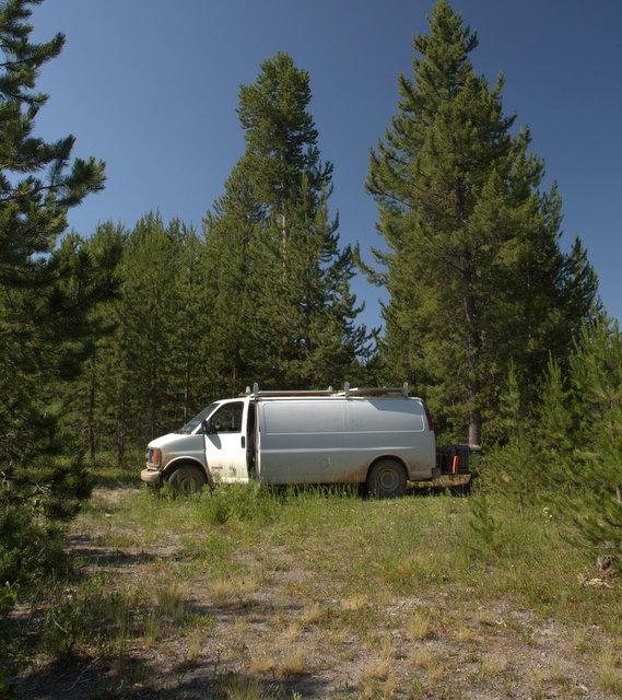 My camp at Island Park, Idaho.