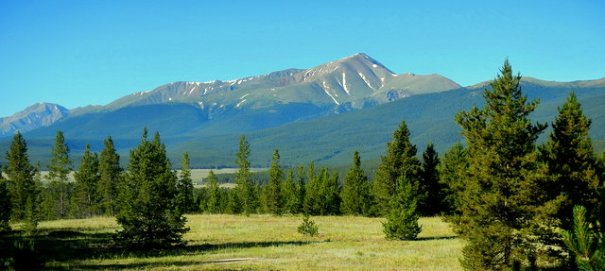 Mt. Elbert from near our dispersed campsite outside Leadville, CO Bob